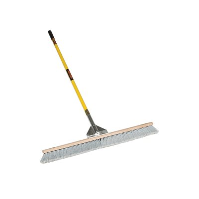 "Duo Broom, 36"" Heavy-Duty Duo Bristles, Gusset Bracing, 60"" Premium Fiberglass, ProGripâ""¢"