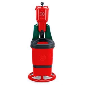 Deluxe Ball Washer Ensemble w / Sgl Trash Mate and Spike Brush, Red