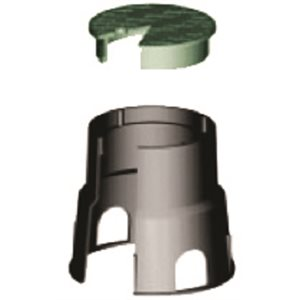 VALVE BOX 10x10 ROUND GREEN LID / BLACK BOX